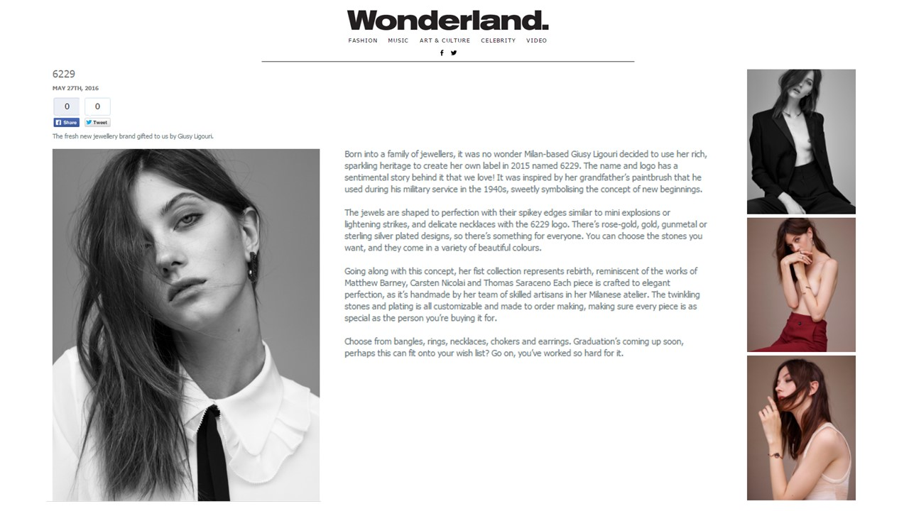 Coverage -6229 by Giusy Liguori on  Wonderland Magazine Online - 27.05.16