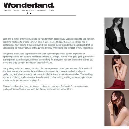 6229 on  Wonderland Magazine